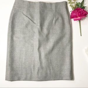 J Crew light gray wool skirt